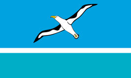 Standard Proportions for Midway Atoll Unofficial Flag Royalty Free Stock Image