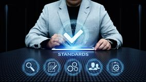 Standard Quality Control Certification Assurance Guarantee Internet Business Technology Concept.  Stock Images