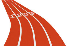 Standard running track. On a white background Stock Photography