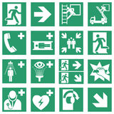Standard Safe condition sign collection Royalty Free Stock Photos