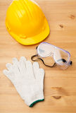 Standard safety equipment Royalty Free Stock Image