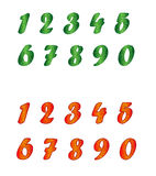 Standard set of numbers in two variants. Stock Photo