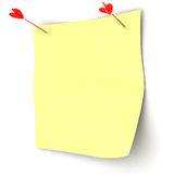 Standard sheet attached by a dart. 3D image royalty free illustration