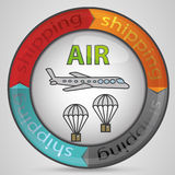 Standard Shipping air. Illustration Symbol Standard Shipping air Royalty Free Stock Photography