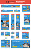Standard size web banners - Real Estate vector illustration