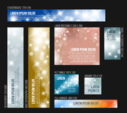 8 Standard size winter christmas banner templates Stock Photography