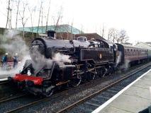 Standard 4 Tank steam engine Bury Station royalty free stock image