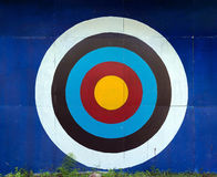 Standard target for decoration on wall Royalty Free Stock Photo