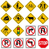 Standard Traffic sign collection Stock Photography