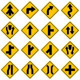 Standard Traffic sign collection Stock Photos