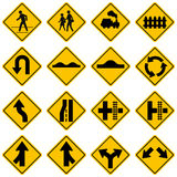 Standard Traffic sign collection Royalty Free Stock Image