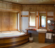 Standard tropical interior of  bathroom Royalty Free Stock Images