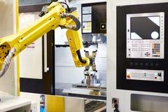 Standard universal industrial robot stock image