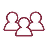 Standard User Icon Set Royalty Free Stock Image