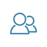Standard User Icon Set Stock Photos