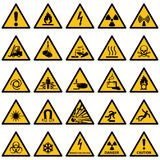 Standard Warning sign collection Royalty Free Stock Photos