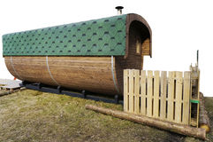 Standard wooden rural bath Royalty Free Stock Photography