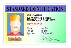 Standardausweiskarte Stockfotografie