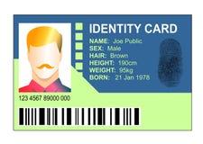 Standardausweiskarte Lizenzfreie Stockfotografie