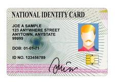 Standardausweiskarte Stockfoto