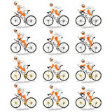 Standardcyklist Arkivfoton