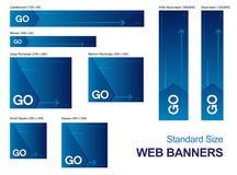 Standardgrößen-Web-Fahnen Stockfotografie