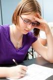 Standardisierte Prüfung in der Ausbildung Lizenzfreies Stockbild