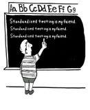 Standardisierte Prüfung ist mein Freund vektor abbildung