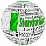 Standardize Word Collage Door Improve Results Stock Photos