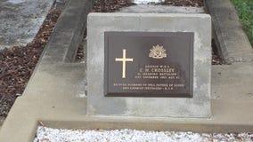 Standardowa Australijska wojska zagadnienia headstone plakieta zbiory wideo