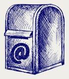 Standardowa skrzynka pocztowa z poczta ilustracja wektor