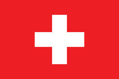 Standardowe proporcje dla Szwajcaria flaga ilustracja wektor