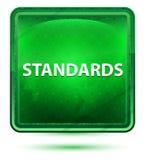 Standards Neon Light Green Square Button vector illustration