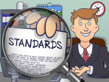 Standards through Magnifier. Doodle Design. Royalty Free Stock Photo
