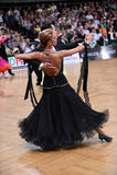 Standardtanzpaare, tanzend am Wettbewerb Stockbild