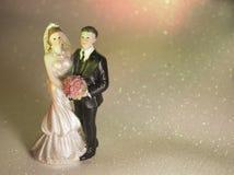 Standardzahl der Braut und des Bräutigams Stockfotografie