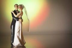 Standardzahl der Braut und des Bräutigams Stockfoto
