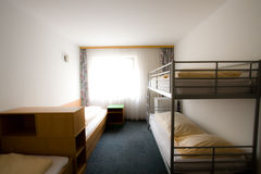 Standart interior of the hotel. With two bed (wite stock photography