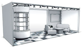 Standausstellungs-Entwurfsgrau Lizenzfreie Stockfotos