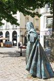 Standbeeld Anne van Bretagne in Nantes, Frankrijk Royalty-vrije Stock Foto's