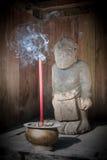 Standbeeld bij Cetho tempel, Java, Indonesië Stock Fotografie