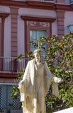 Standbeeld bij de Kerk van Cadiz royalty-vrije stock foto's