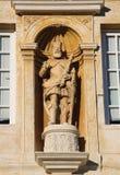 Standbeeld bij de Universiteit van Coimbra, Portugal Royalty-vrije Stock Foto