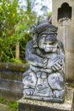 Standbeeld bij een Hindoese tempel Stock Foto