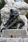 Standbeeld bij het graf van Ivan Franko, Lviv, de Oekraïne Royalty-vrije Stock Foto's