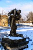 Standbeeld bij Petrin-Park in Praag stock foto