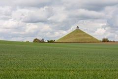 Standbeeld bij slagveld van Waterloo, België Stock Fotografie