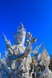 Standbeeld binnen openbare witte tempel Stock Fotografie