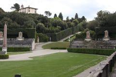 Standbeeld in Boboli-Tuinen - Florence, Toscanië, Italië royalty-vrije stock afbeeldingen