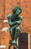 Standbeeld brons-green patina Stock Foto